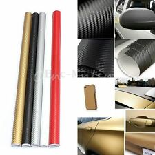 60x152CM 3D Fibre Carbon Auto Car Voiture Adhesif Vinyl Film Autocollant Sticker