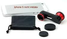 3 in 1 Linse, Fischauge, Weitwinkel, Makro fuer IPhone 5, 5S, 4, 4S