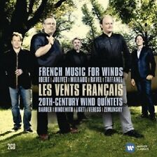 Les vents FRANCAIS-the best quintet Music - 2 CD NEUF Ibert, ravel, Milhaud