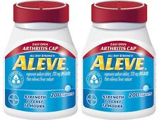 2 ALEVE Easy Open Arthritis Cap, 220mg Pain Reliever/Fever Reducer 400 ct