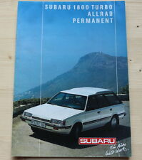 SUBARU ..... Prospekt ..... 1800 Turbo - Allrad ..... Permanent ..... Rar