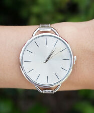 Silver Minimal Watch, White Womens Watch, Silver Watch, Modern Watch, Simple