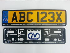 Creations Motorsport Number Plate Surrounds a Pair