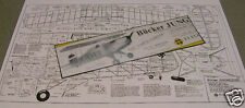 "Model Airplane Plans: BUCKER JUNGMEISTER ""Schoolyard Scale"" 32½"" RC .049---.09"