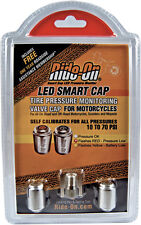 LED Smart Cap- Tire Pressure Monitoring Motorcycle Valve Cap; 10-70 PSI