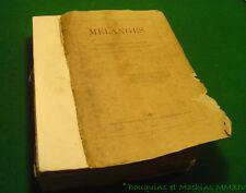 Alexandre Vinet MELANGES Philosophie morale, notices biographiques, pensées 1869