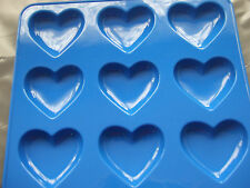 Silicone Mould 9 Small Heart Pan/ Tray- Chocolate/ Wax Melts/ Soap/ Ice etc
