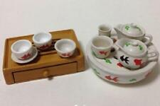 Re-ment miniature fairy tale tableware drawer chinese fish tea set