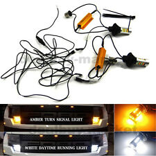 2x Switch back LED Lamp T20 W21W 7440 42SMD White DRL & Amber Turn Signals Light