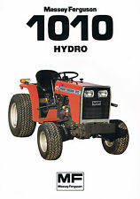 ▬► Prospectus Tracteur MASSEY FERGUSON MF 1010 HYDRO  Prospect Tractor Traktor
