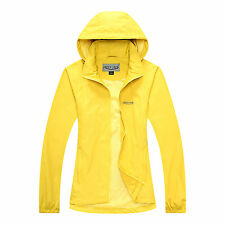 Womens Outdoor Waterproof Breathable Hiking Hooded Jacket Rain Coat Windbreaker