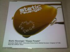 STATIC REVENGER - HAPPY PEOPLE - 3 MIX HOUSE CD SINGLE
