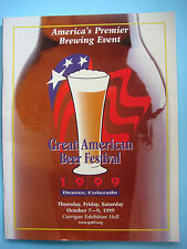 1999 GREAT AMERICAN BEER FESTIVAL Guide ~ Denver GABF Brewery Facts Fest Styles