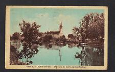 SAINTE-COLOMBE prés de LA FLECHE (72) EGLISE en BORD du LOIR en 1952