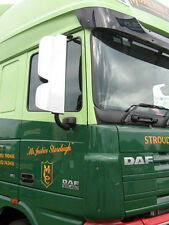 DAF XF 105 CF Euro 5 Stainless Steel Mirror Guards. Truck Mirror Guards.
