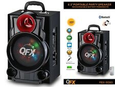 "QFX PBX-9080 6.5"" Portable/Rechargeable Party Speaker +Bluetooth +USB/SD/FM/LED"