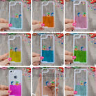 3D Water Shell Dolphin Cute Liquid Wine Moving Case Cover For iPhone 5 5S BLUE