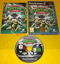 TEENAGE MUTANT NINJA TURTLES SMASH-UP TMNT Ps2 Vers. Italiana 1ª Ed COMPLETO AC