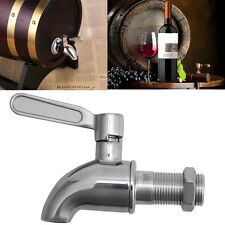 Stainless Steel Beverage Drink Dispenser Wine Barrel Spigot/Faucet/Tap M16 Round