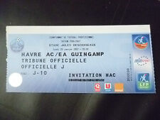 Tickets- 2007 AC LE HAVRE vs EA GUINGAMP, 29 January, Football Championship