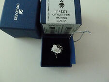 Swarovski Crystal Hello Kitty Rock Ring Size medium 7 -55
