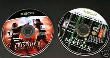 STAR WARS EPISODE III REVENGE OF THE SITH ENTER THE MATRIX 2 Game Only Lot Xbox