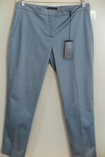 "NWT Piazza Sempione Slate Blue Cotton Blend ""Cristina"" Pants Size 12 MSRP $500"