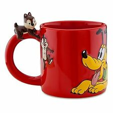 Disney Store Silver Anniversary Cup Dog Chip & Dale PLUTO CERAMIC COFFEE MUG