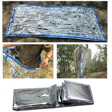 "Camping/Hiking Emergency Survival PET Film Sleeping Bag Heat Sheet 84X36"" Silver"
