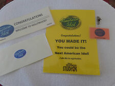 "AMERICAN IDOL - Acceptance Letter, Going to ""Hollywood"" laminated sign + Badge"
