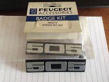 PEUGEOT 505 new car badge mud flap kit  genuine