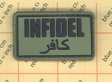 PVC INFIDEL PATCH AFG/PAK ISAF JSOC TEAM ARABIC DARK OPS USA MILITARY