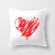 Heart Happy Valentines Day Image Square Pillow Case Cover Custom Valentine Gift