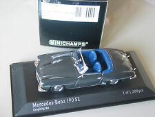 MERCEDES W121 Grigio 190SL Roadster 1/43 Minichamps MOLTO RARO