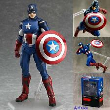 Figma Marvel The Avengers Captain America PVC Action Hero Figure Toy Figurine