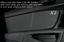 WHITE STITCHING 2X FRONT DOOR CARD LEATHER SKIN COVERS FITS MAZDA RX8 2003-2012