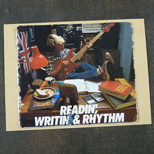 POP-KARD feat. READIN WRITIN & RHYTHM ARIA BASS AD , 11x15 greeting card aae