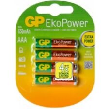 4 x AAA GP Rechargeable 650 mAh NI-MH Batteries phone 1 pack of 4 Always Ready