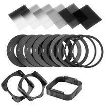 Complete ND2 4 8 Square filter kit for Cokin P+filter Holder+Hood+Adapter Rings