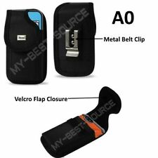 (A0) Pouch Belt Clip Holster Cover For iPhone 7 Plus Fits LifeProof Case - Black