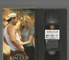 Tin Cup VHS 1996 Kevin Costner Rene Russo EX Condition Golf Romantic Comedy