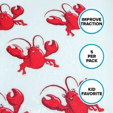 Lobster Tub Tattoos (5 Pack) Kids Non-Slip Bath Tub Treads by SlipX Solutions