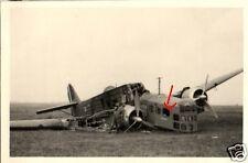 15081/ Originalfoto 6,5x9,5cm zerstörter Bomber Bloch 200 Flugplatz Sainte Maure
