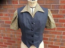 Lovely 1940s/50s Ladies Grey Wool Waistcoat, Made To Vintage Pattern.