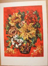 D'ANTY Henri - Lithographie signée numérotée bouquet de fleurs