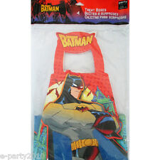 THE BATMAN FAVOR BOXES (4) ~ Superhero Birthday Party Supplies Treat Loot Goody