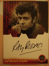DR WHO - DALEKS INVASION EARTH 2150 AD: AUTOGRAPH CARD: RAY BROOKS AS DAVID