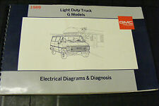 1989 GMC G ELECTRICAL DIAGRAMS & DIAGNOSIS SERVICE SHOP MANUAL