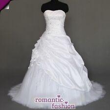 ♥Brautkleid, Hochzeitkleid in Weiß+Gr.34,36,38,40,42,44,46,48,50,52 od. 54+W070♥