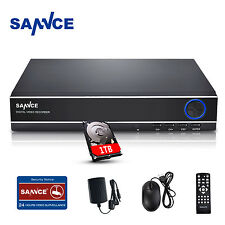 SANNCE 4CH 720P CCTV AHD DVR Video Recorder Home Security System 1TB Hard Drive